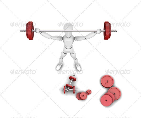 Weight lifter - Characters 3D Renders