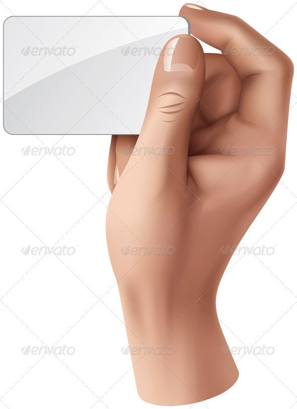 Hand with Blank Card - Concepts Business