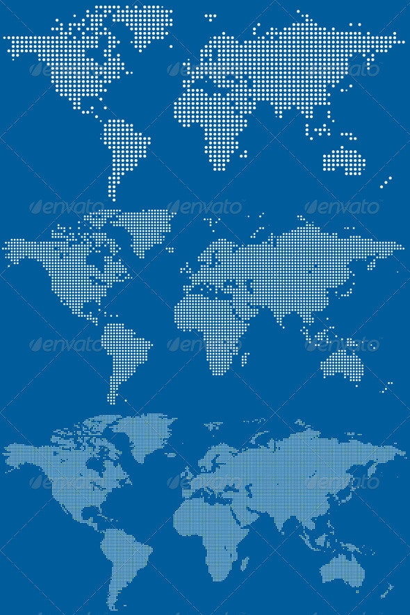 Dotted World Maps - Backgrounds Decorative