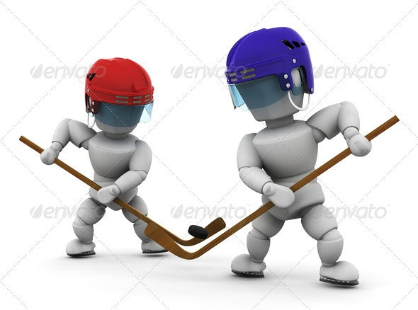Ice hockey players - Characters 3D Renders