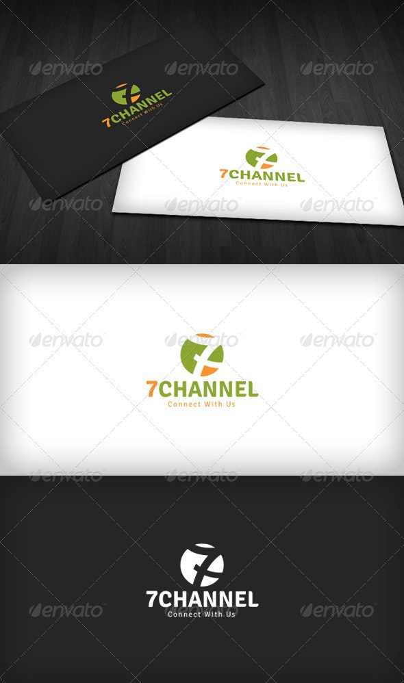 Seven Channel Logo - Numbers Logo Templates