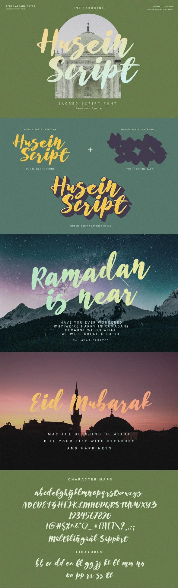 Husein Script | Handwritten Ramadan Font - Hand-writing Script