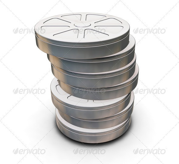 Film reels - Objects 3D Renders