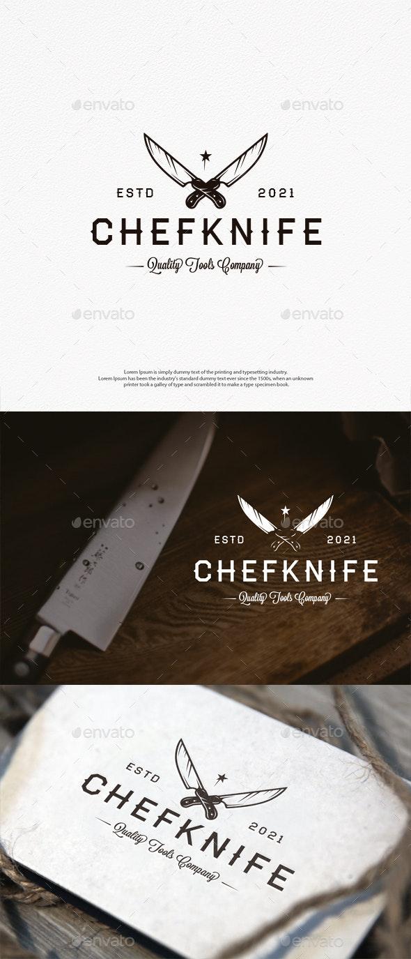 Chef Knife Vector Logo Template - Restaurant Logo Templates