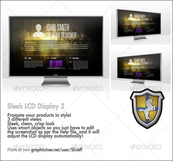 Sleek LCD Display 2 - Monitors Displays