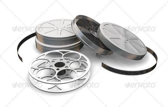 Films reels - Objects 3D Renders