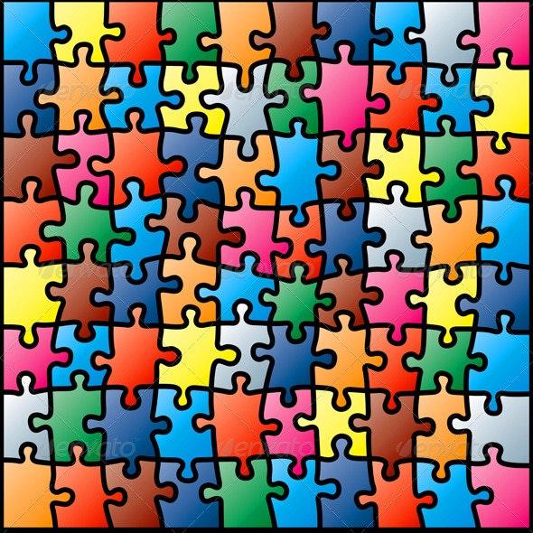 Jigsaw Puzzle Background - Backgrounds Decorative