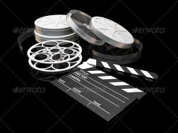 Movie night - Objects 3D Renders