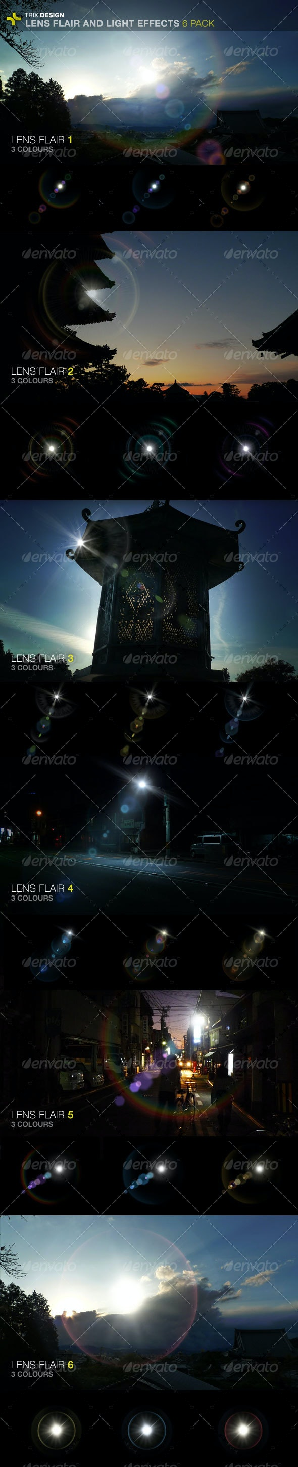 Lens Flares - 6 Pack - Miscellaneous Graphics