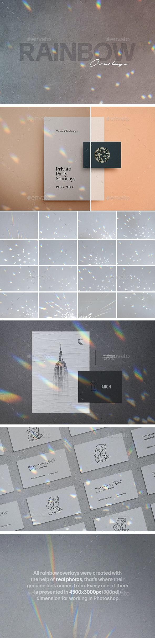 Spectrum Rainbow Photo Overlays - Miscellaneous Photo Templates