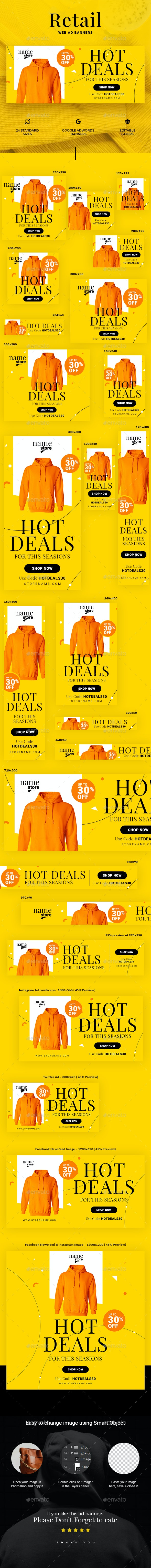 Retail Web Ad Banners - Banners & Ads Web Elements