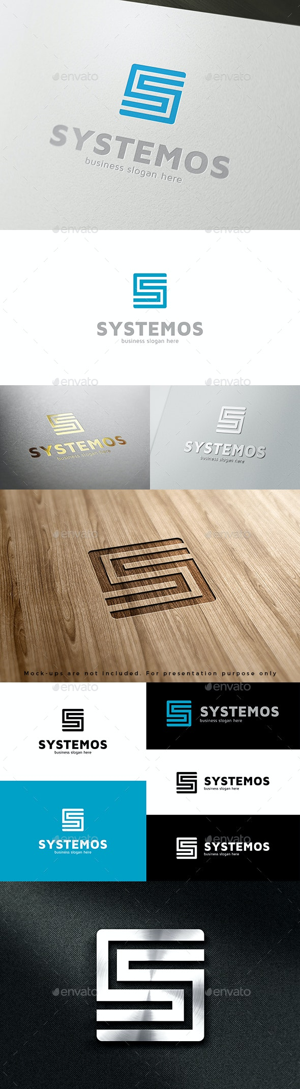 S Logo - Systemos - Letters Logo Templates