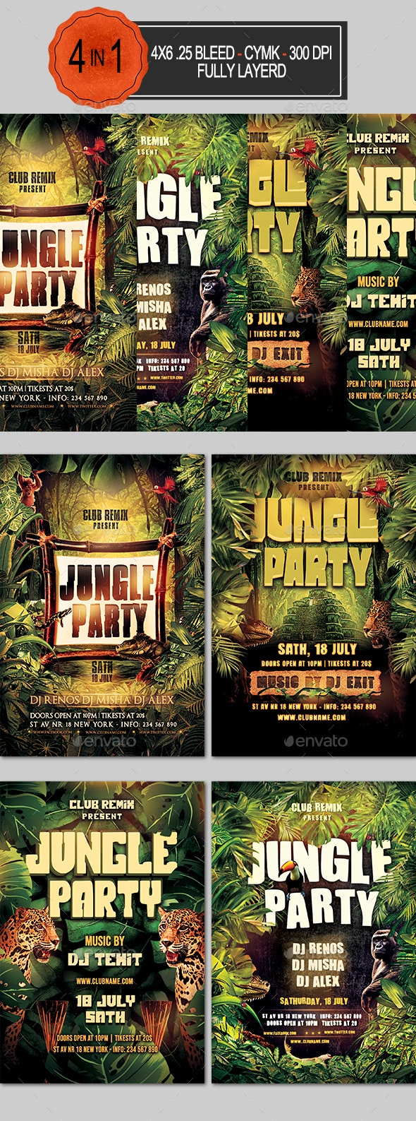 Jungle Flyer Bundle - Clubs & Parties Events