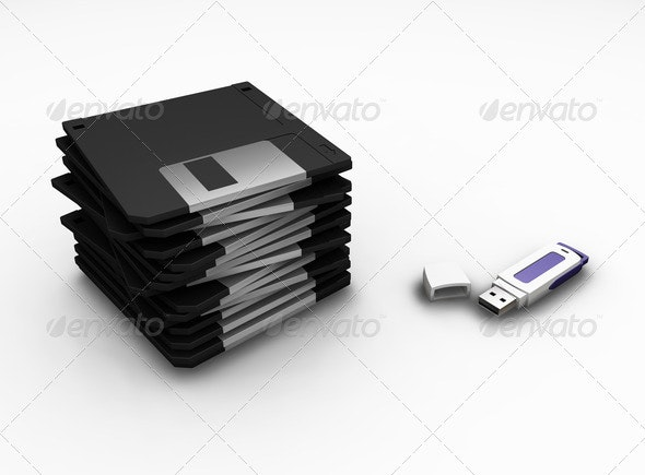 Data storage - Technology 3D Renders