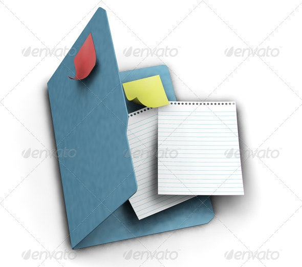 Stationery - Objects 3D Renders
