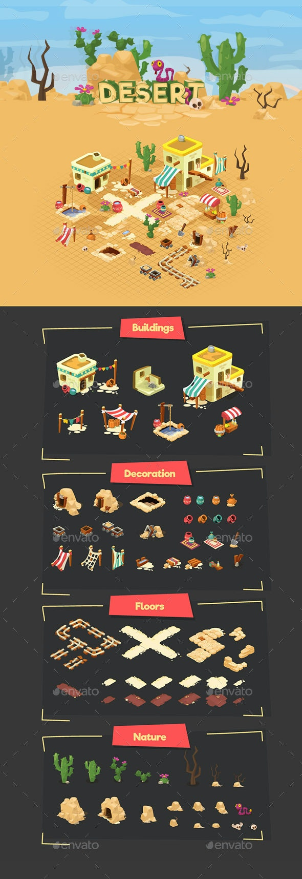 Desert  - Game Assets - Miscellaneous Game Assets