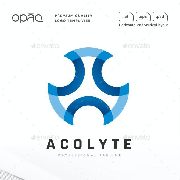 Abstract Synergy Circular Lines Logo