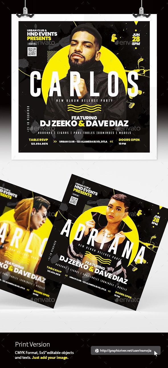 Artist Concert Flyer - Clubs & Parties Events
