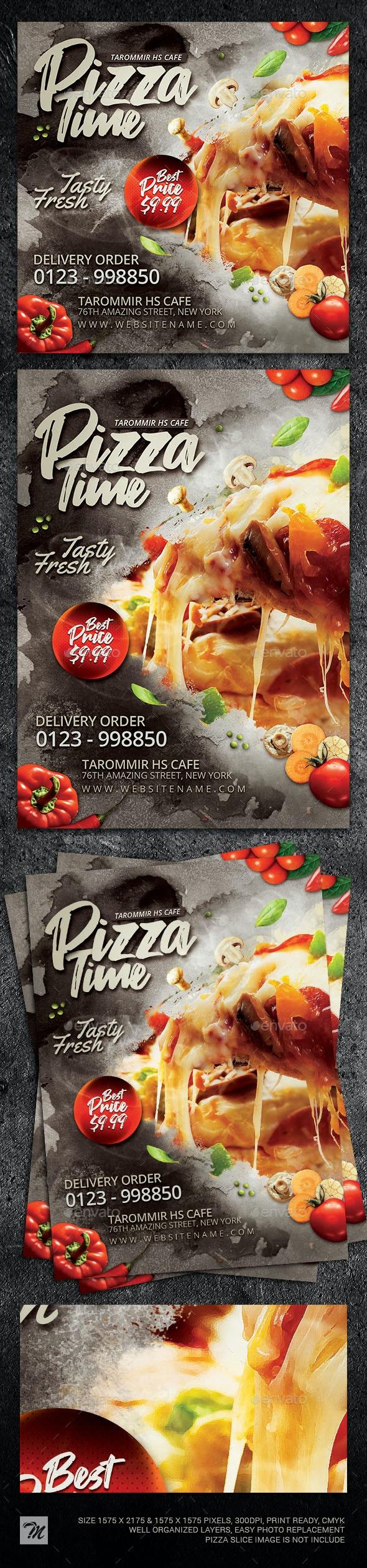 Pizza Flyer Template - Restaurant Flyers