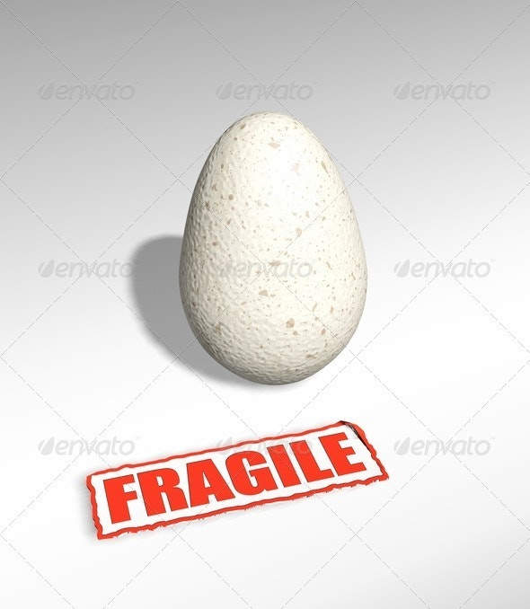 Fragile egg - Abstract 3D Renders