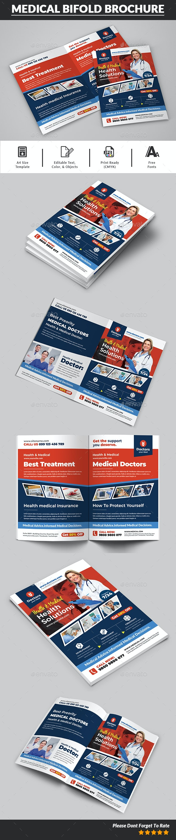 Health & Medical Doctors Bifold Brochure - Brochures Print Templates