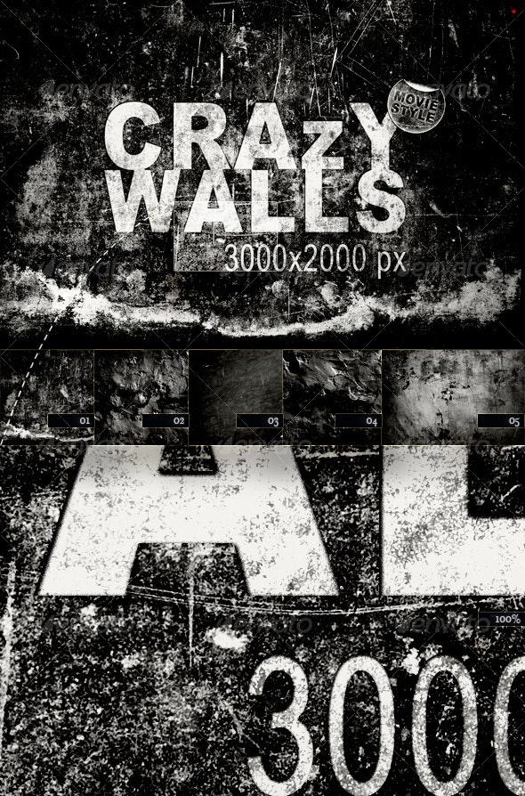 Crazy Walls – Movie Style - Industrial / Grunge Textures