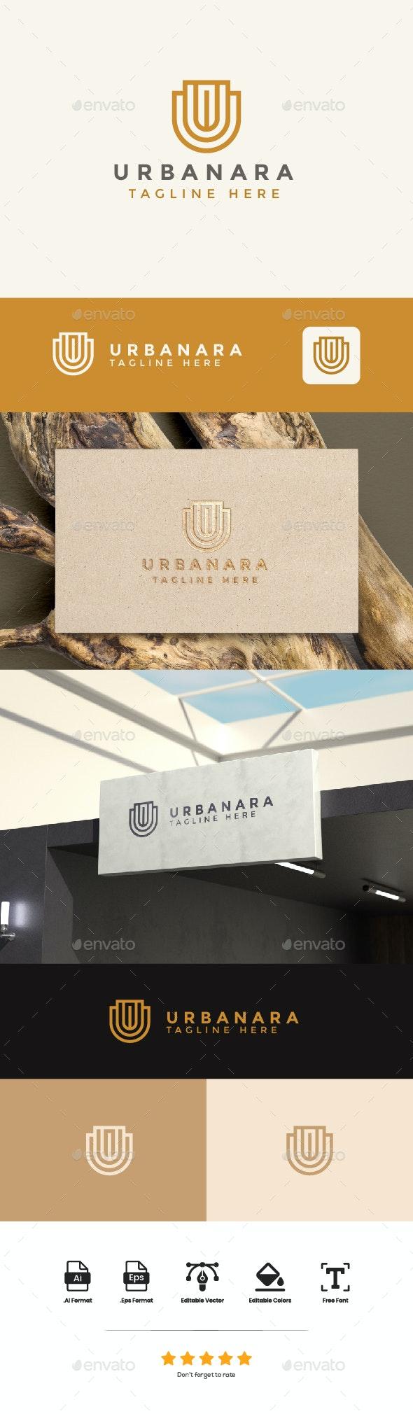 Logo Letter U - Urbanara - Letters Logo Templates
