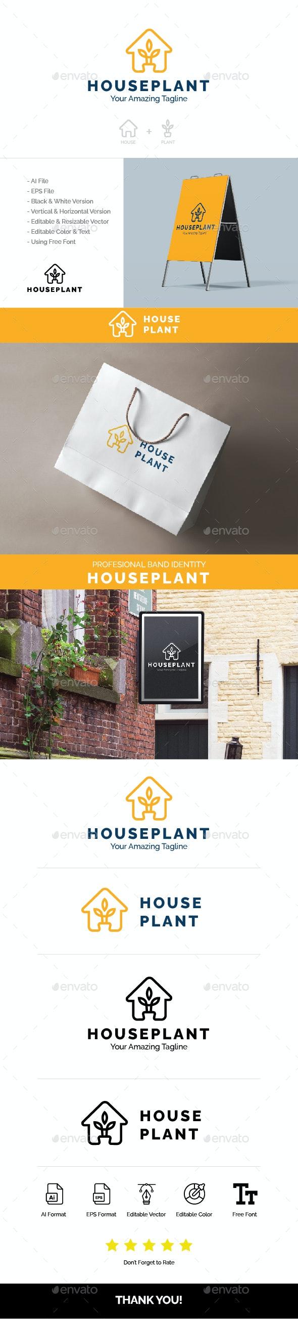 HOUSE PLANT LOGO - Nature Logo Templates