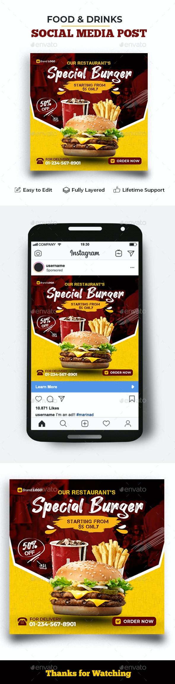 Social Media Post Templates - Social Media Web Elements