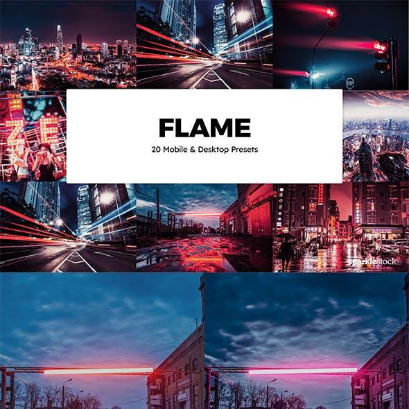 20 Flame Lightroom Presets & LUTs