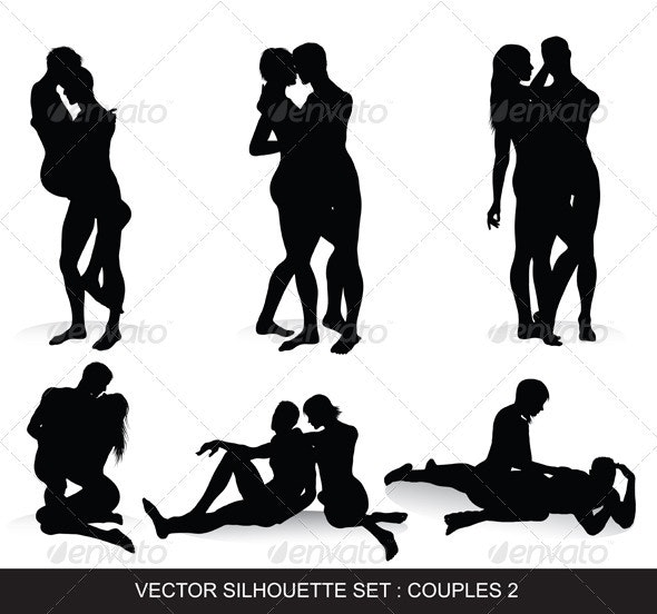 Couple Silhouettes Set  - People Characters