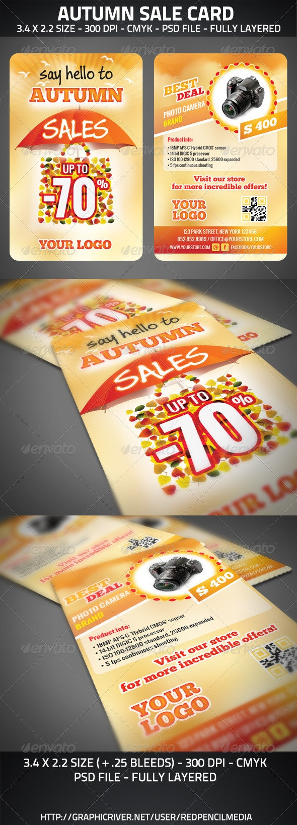 Autumn Sale Card - Cards & Invites Print Templates