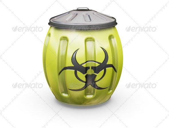 Biohazard bin - Objects 3D Renders