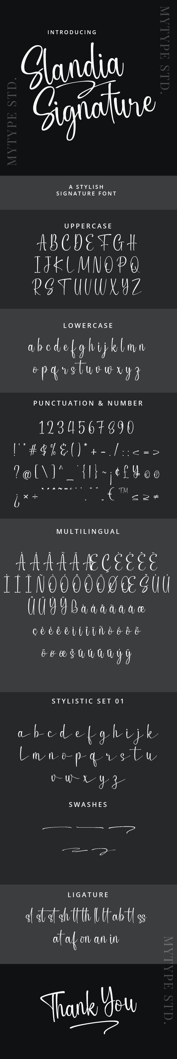 Slandia Signature Font - Hand-writing Script