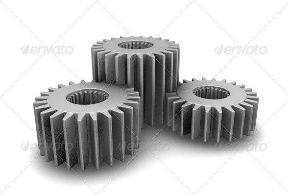 Gears concept - Objects 3D Renders