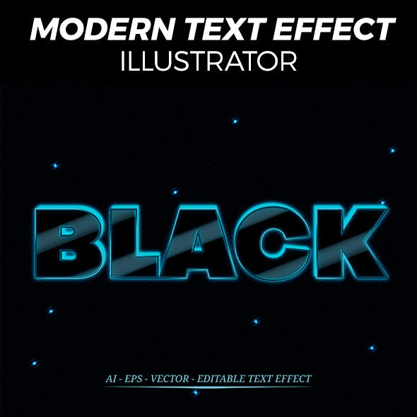6 Glossy Text Effect Style