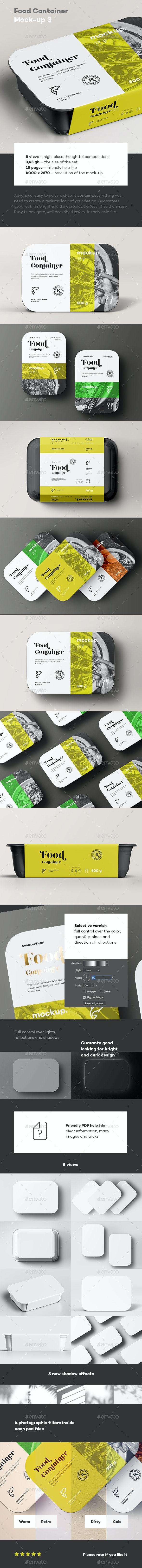 Food Container Mock-up 3 - Food and Drink Packaging