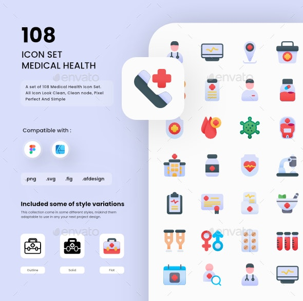 Medical Health Icons - Miscellaneous Characters