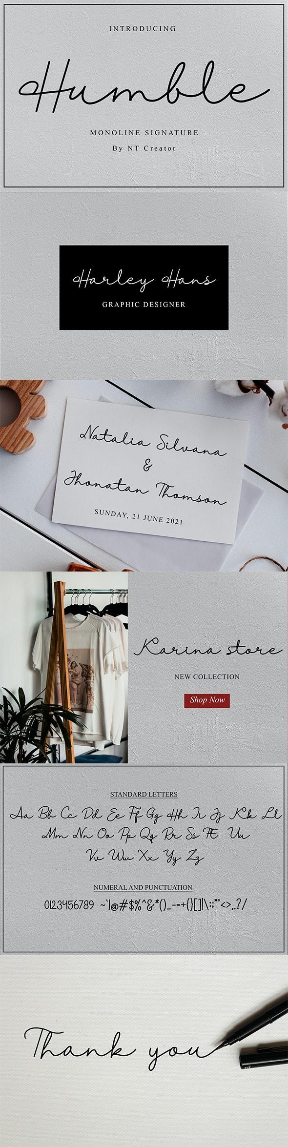 Humble - Script Fonts