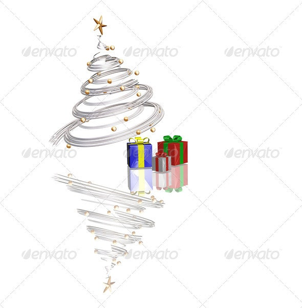 Christmas time - Abstract 3D Renders