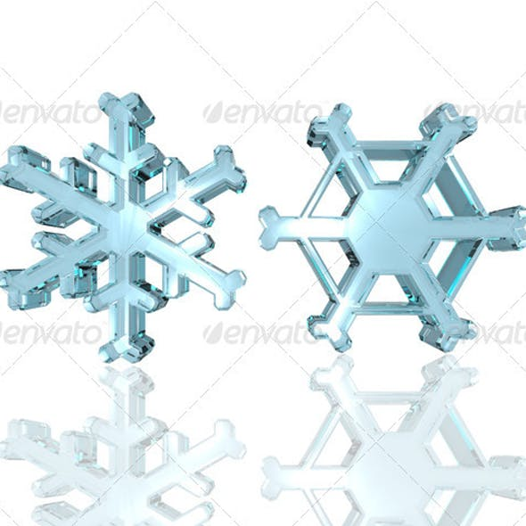 Glass snowflakes