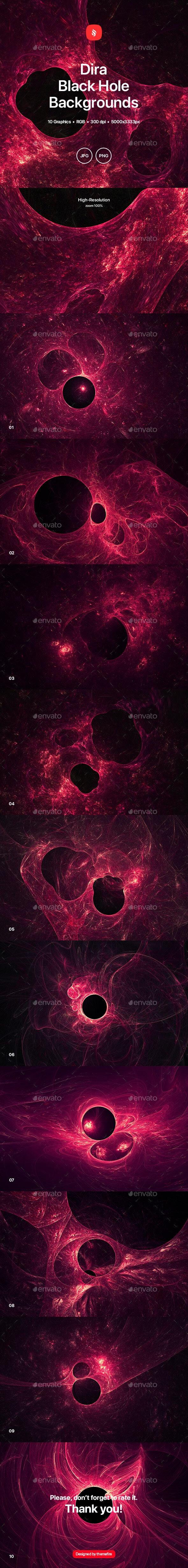 Dira - Black Hole Backgrounds - Tech / Futuristic Backgrounds