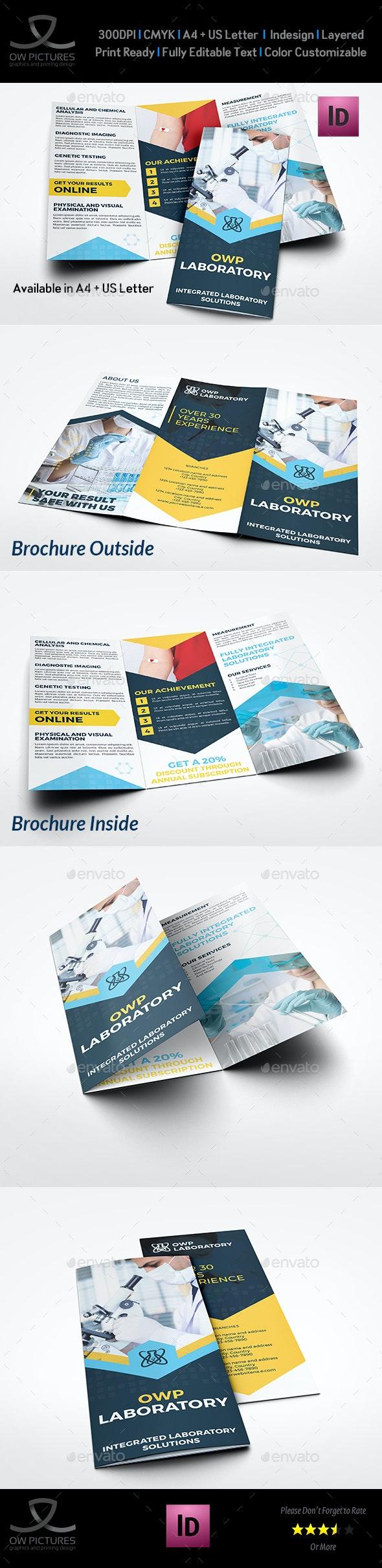 Medical Laboratory Tri-Fold Brochure Template - Brochures Print Templates
