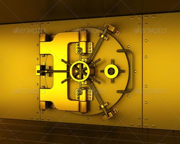 Gold vault - Technology 3D Renders