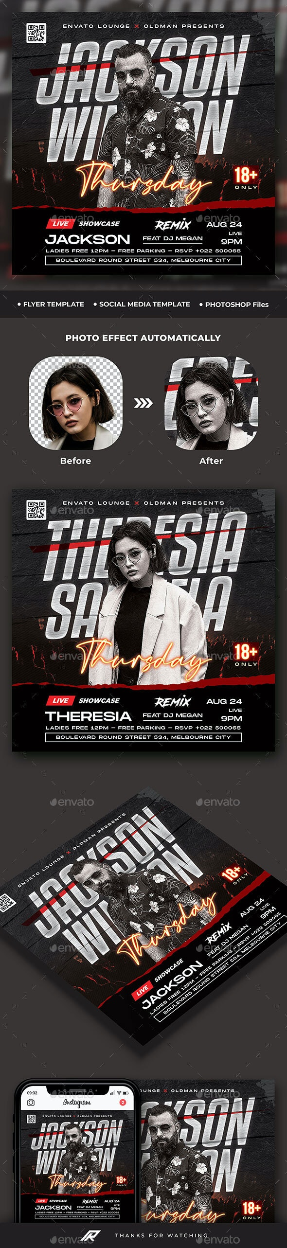 DJ Club Flyer Template - Clubs & Parties Events