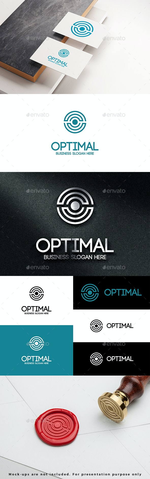 Optimal Circle Abstract O Logo Letter - Abstract Logo Templates