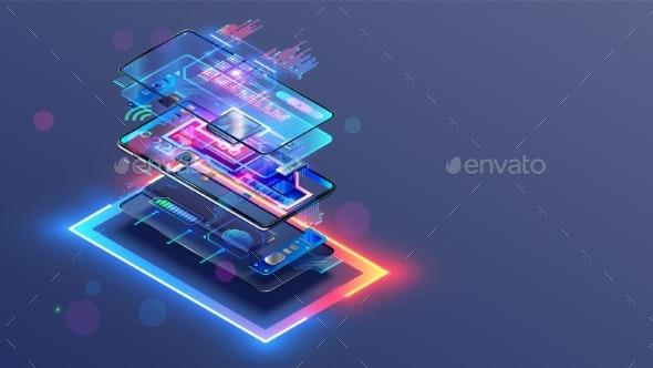Phone Repair Service - Technology Conceptual
