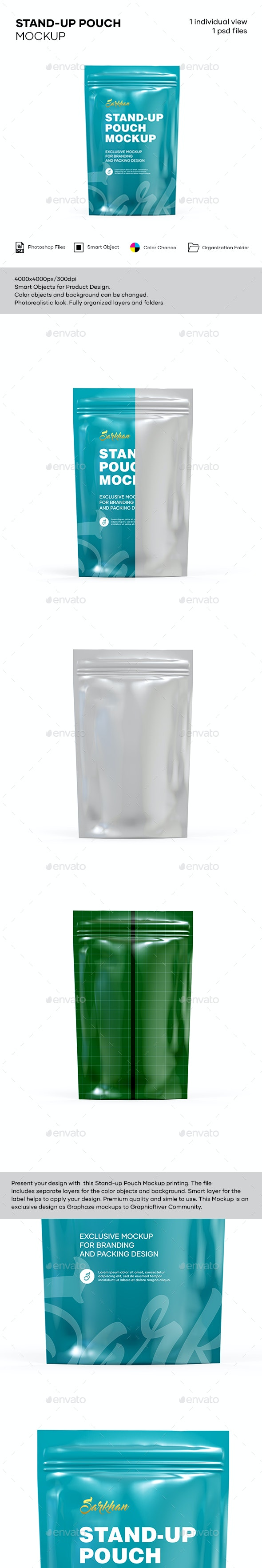 STAND-UP POUCH MOCKUP - Product Mock-Ups Graphics