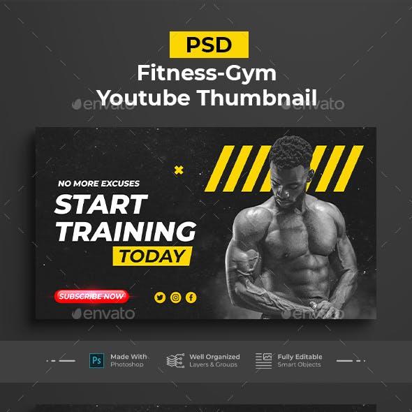 Fitness-Gym Youtube Thumbnail Templates