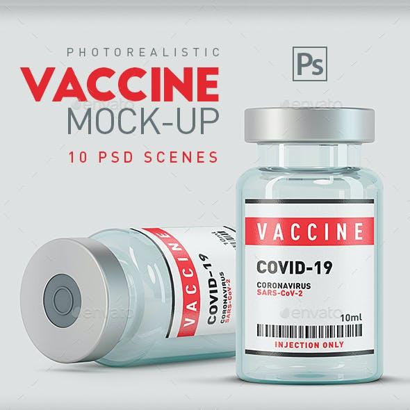 Vaccine Vial Bottles Mock-Up - 10 Scenes